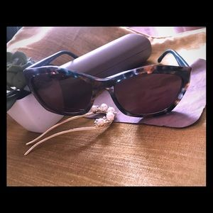 Authentic BCBG  Sunglasses with case /dust cloth